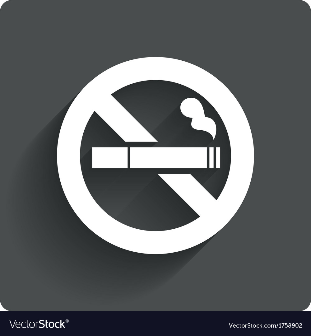 No smoking sign no smoke icon stop smoking vector | Price: 1 Credit (USD $1)