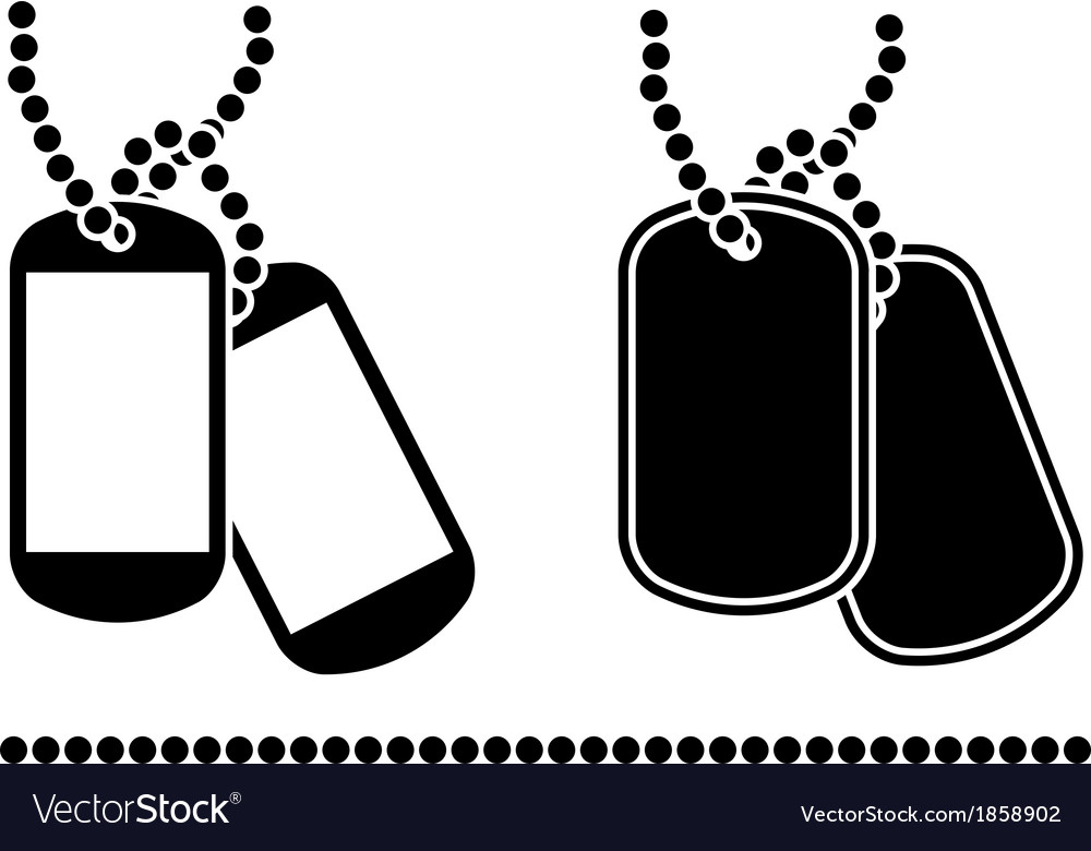 Stencils of dog tags vector | Price: 1 Credit (USD $1)