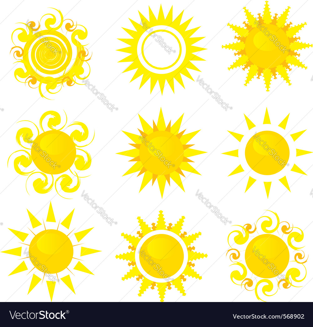 Sunny icons vector | Price: 1 Credit (USD $1)