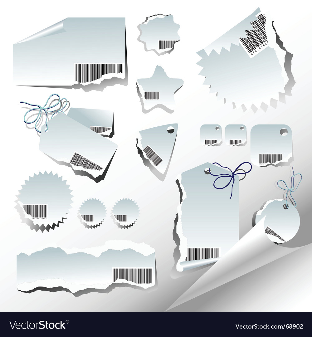 Tags and paper elements vector | Price: 1 Credit (USD $1)