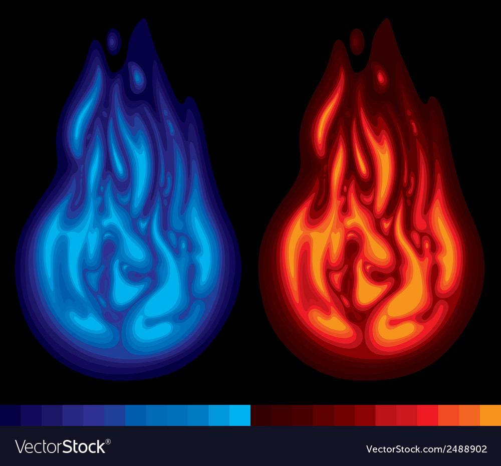 Two flames vector | Price: 1 Credit (USD $1)