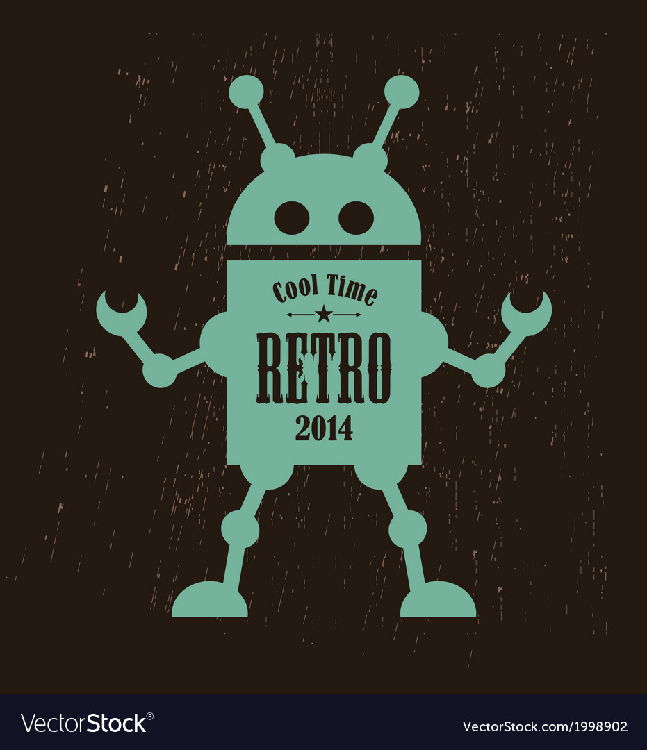 Vintage robot vector | Price: 1 Credit (USD $1)