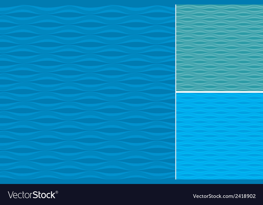 Waves patterns set vector