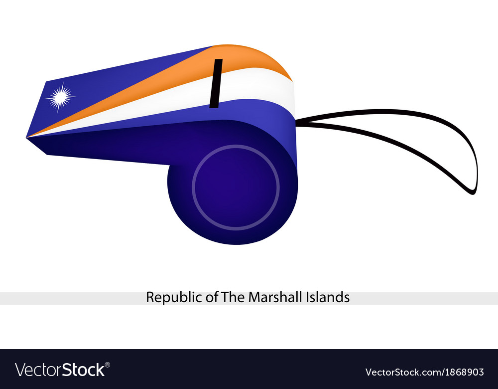 A whistle of the republic of the marshall islands vector | Price: 1 Credit (USD $1)