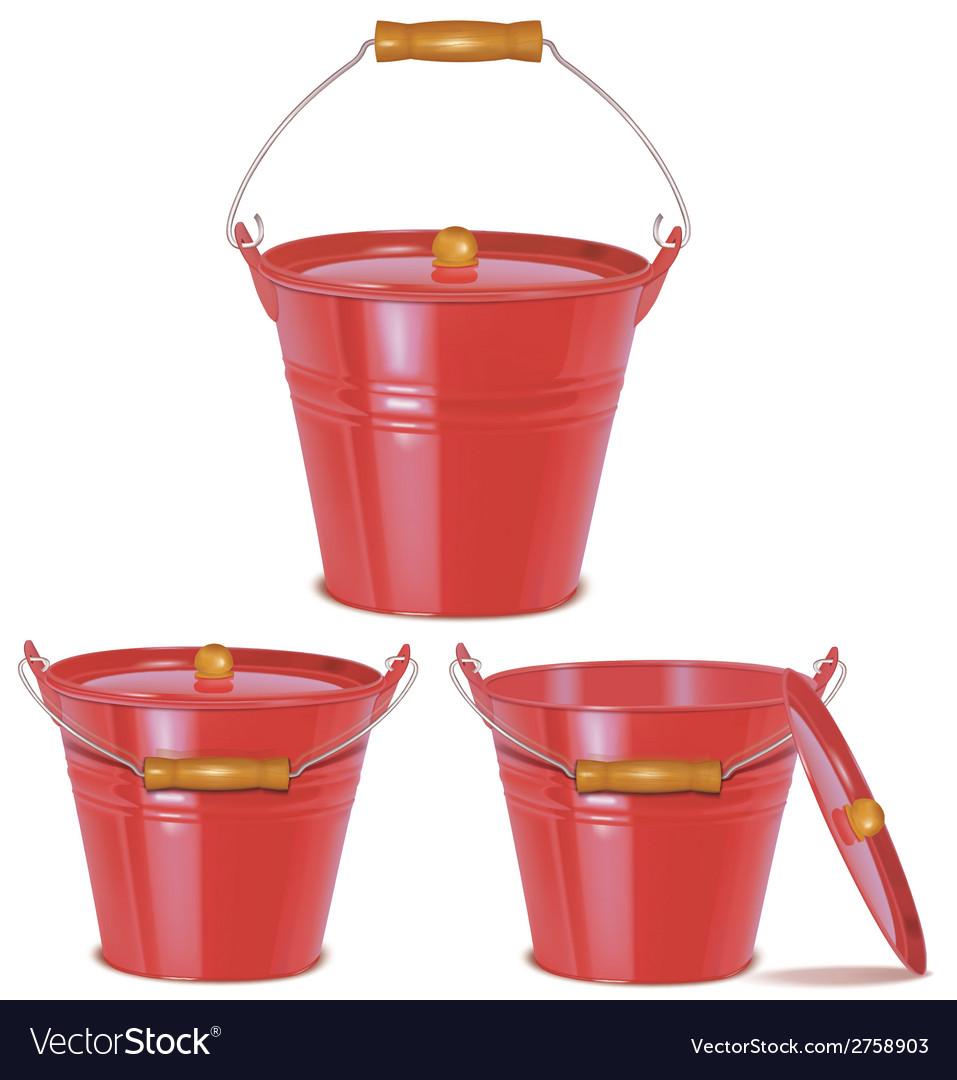 Bucket red vector | Price: 1 Credit (USD $1)