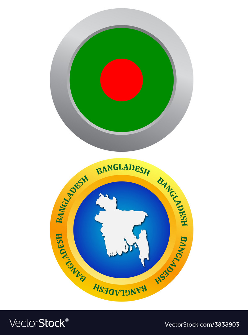 Button as a symbol bangladesh vector | Price: 1 Credit (USD $1)