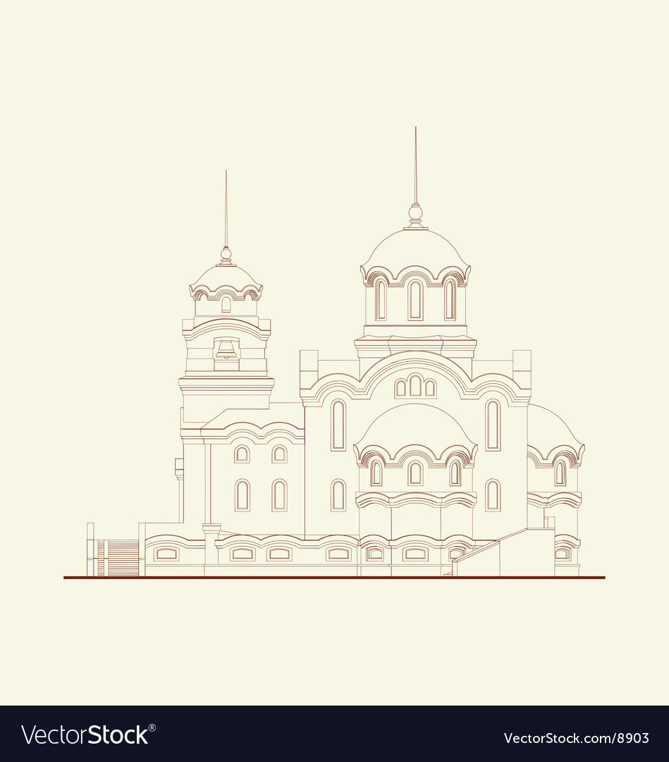 Cathedral religion building vector | Price: 1 Credit (USD $1)