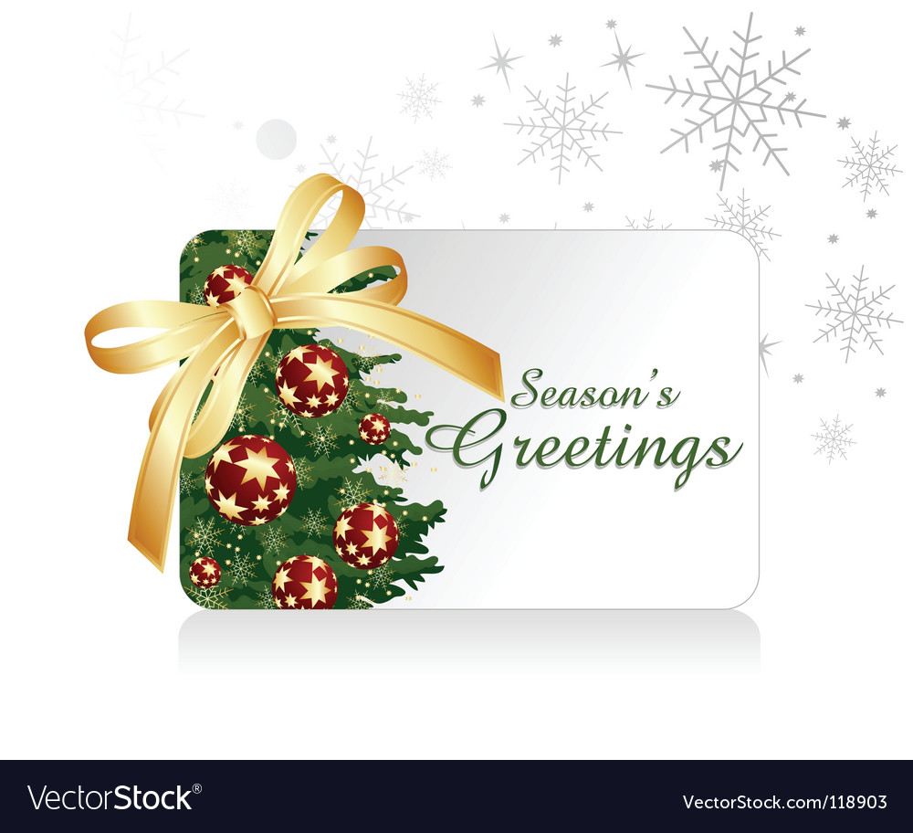Christmas gift card vector | Price: 1 Credit (USD $1)
