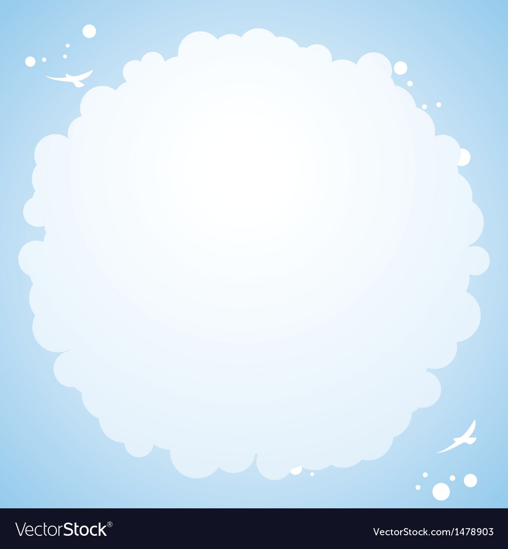 Cloud cirular border background vector | Price: 1 Credit (USD $1)
