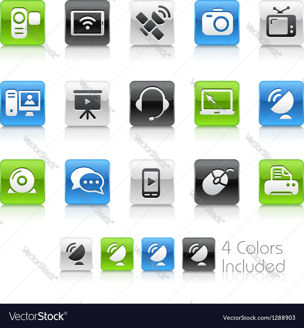Communication icons clean series vector | Price: 1 Credit (USD $1)