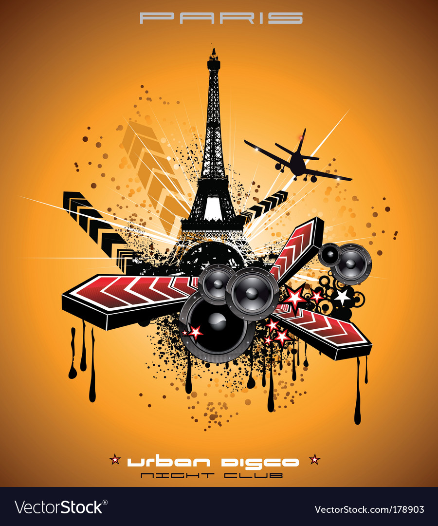 French discotheque vector | Price: 3 Credit (USD $3)