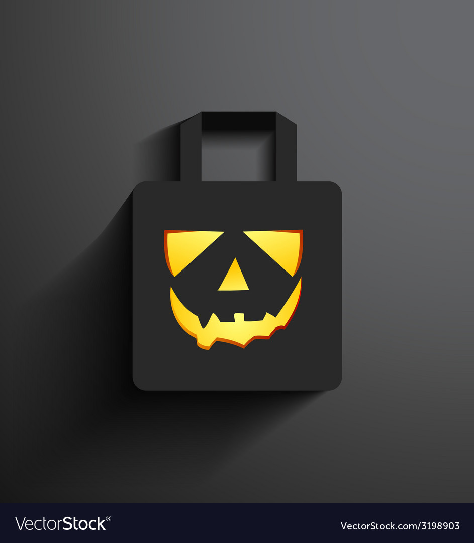 Halloween sale shopping bag vector | Price: 1 Credit (USD $1)