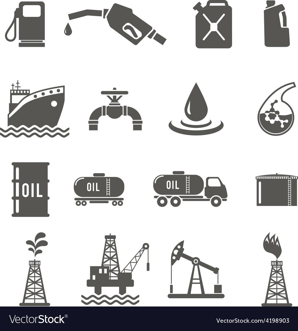 Petroleum industry icon set vector | Price: 1 Credit (USD $1)