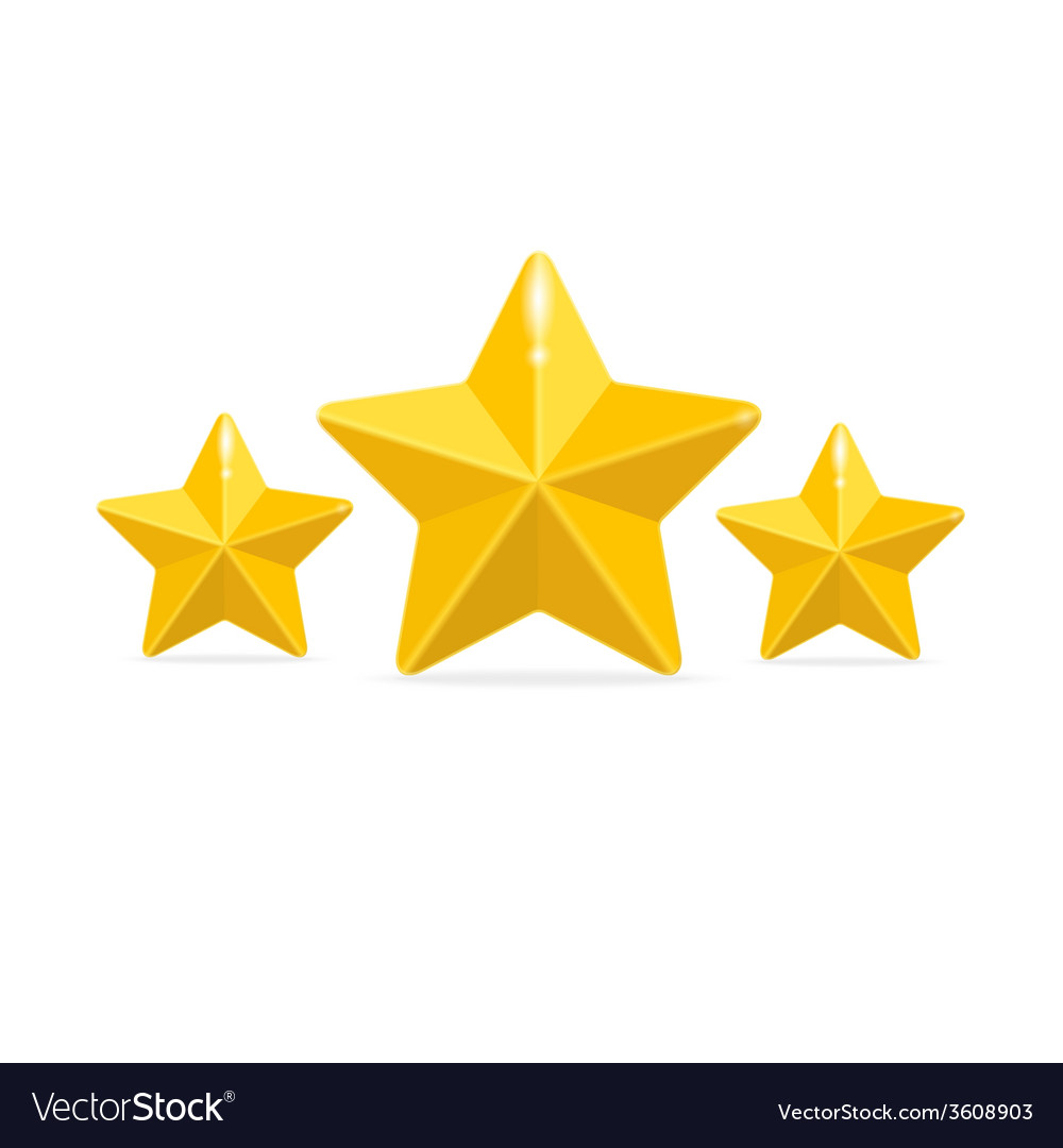 Rating three stars concept on black vector | Price: 1 Credit (USD $1)