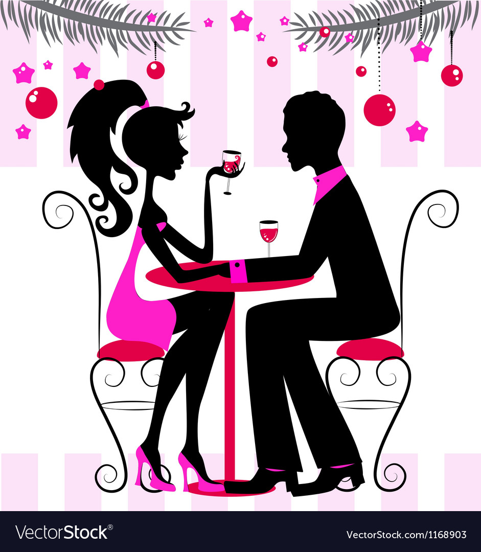 Romantic dinner vector | Price: 1 Credit (USD $1)