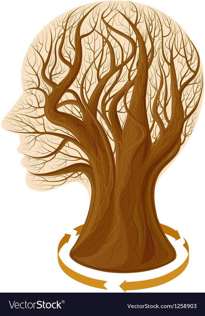 Tree head vector | Price: 3 Credit (USD $3)