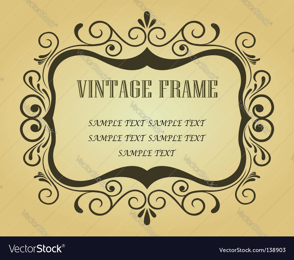 Vintage frame for design vector | Price: 1 Credit (USD $1)