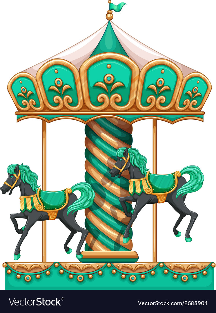 A green merry-go-round vector | Price: 3 Credit (USD $3)