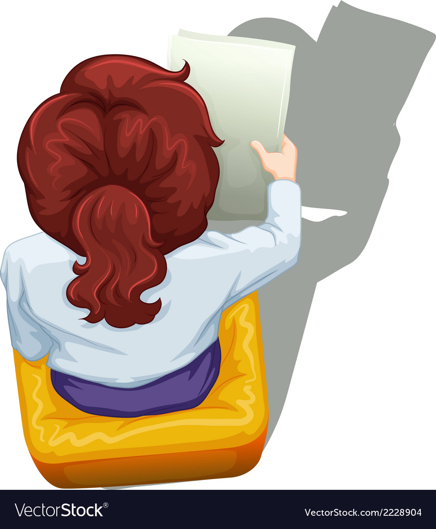 A topview of a woman sitting down vector   Price: 1 Credit (USD $1)