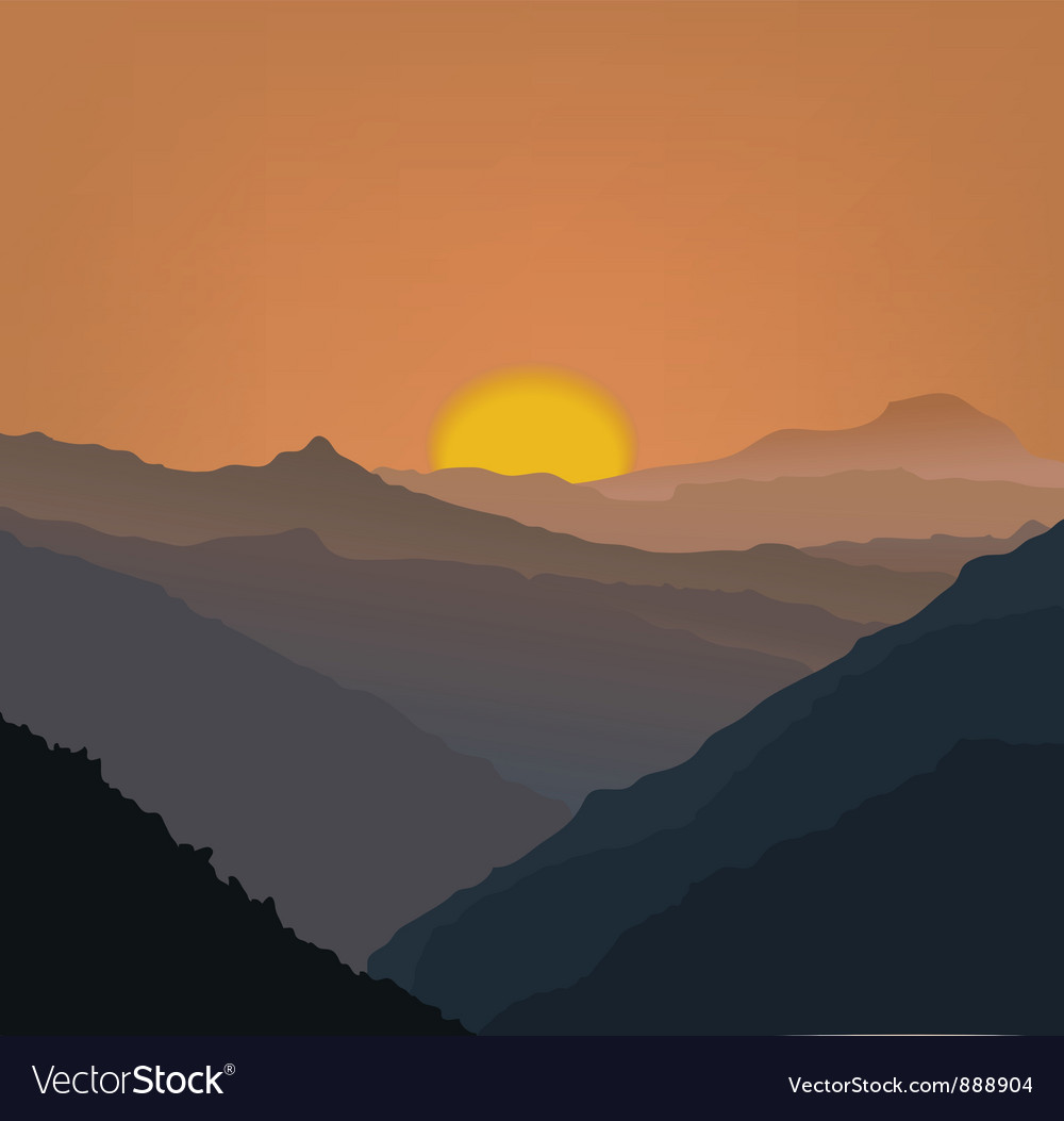Beige mountains vector | Price: 1 Credit (USD $1)