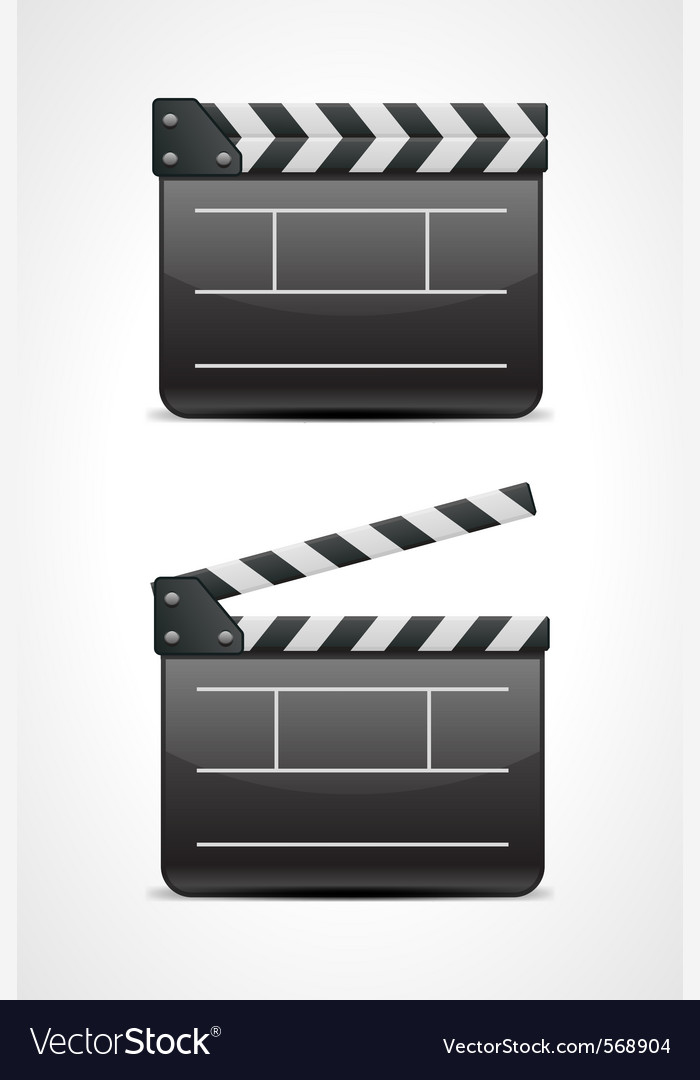Clap board cinema icon vector | Price: 1 Credit (USD $1)