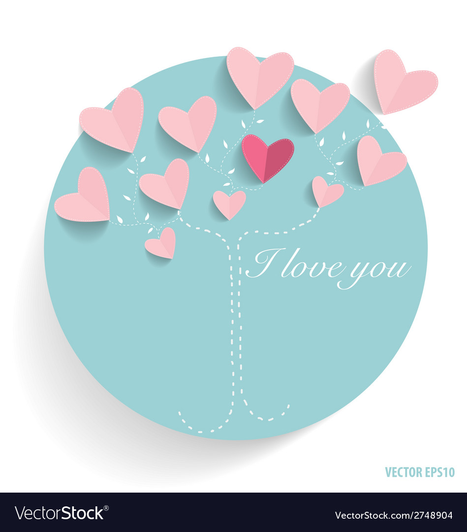Cute card with hearts vector | Price: 1 Credit (USD $1)