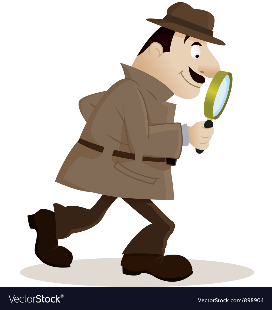 Detective with magnifying glass vector | Price: 1 Credit (USD $1)