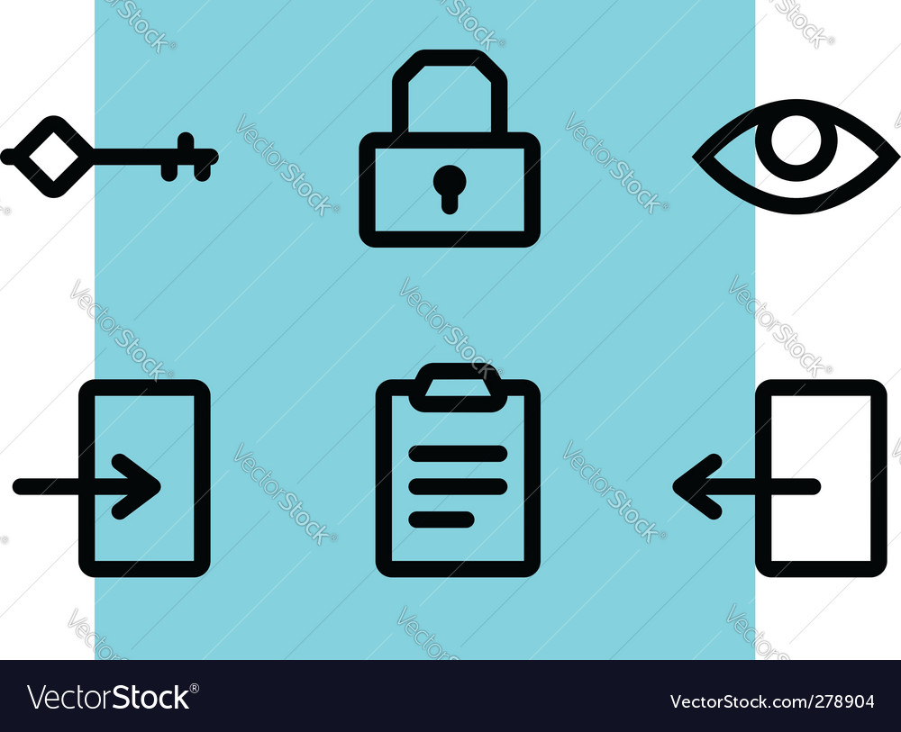 Entrance icons vector   Price: 1 Credit (USD $1)