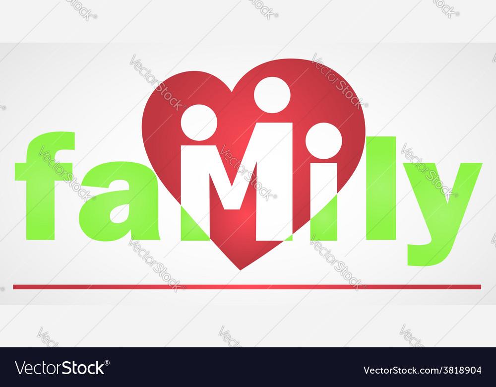 Family logotype vector | Price: 1 Credit (USD $1)