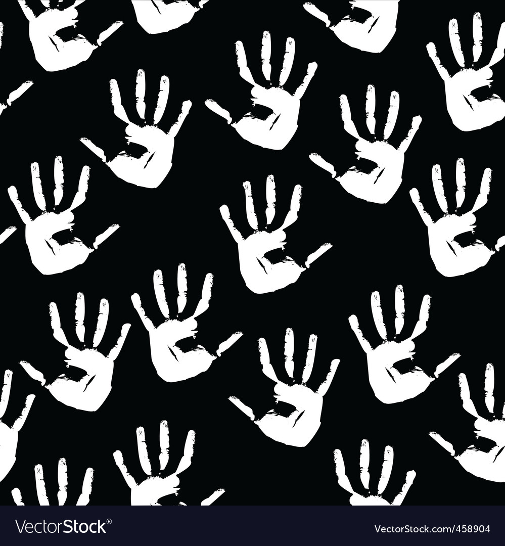 Handprints background vector | Price: 1 Credit (USD $1)