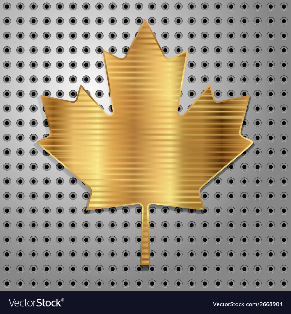 Leaf of gold vector | Price: 1 Credit (USD $1)