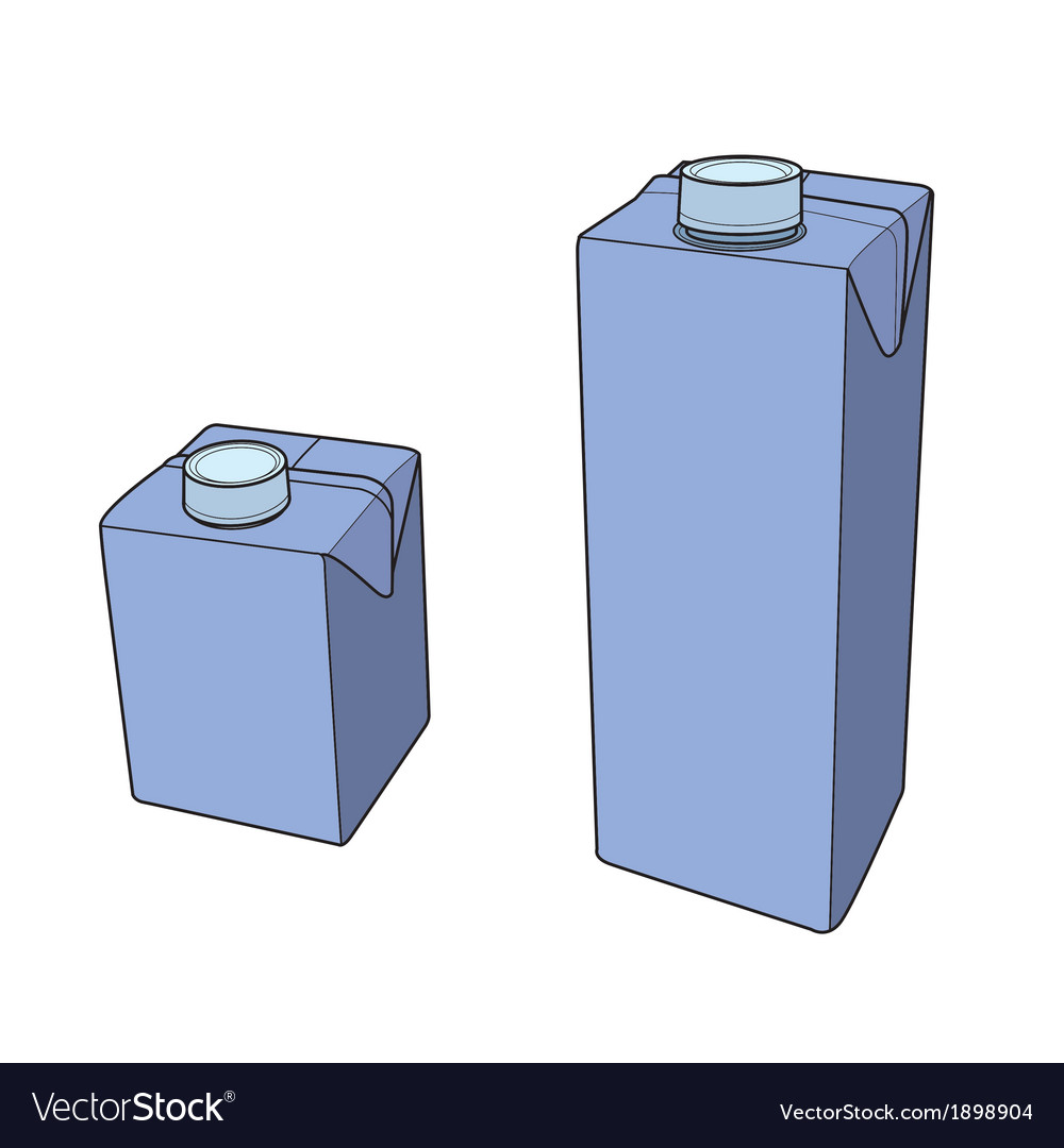 Milk carton with screw cap vector | Price: 1 Credit (USD $1)