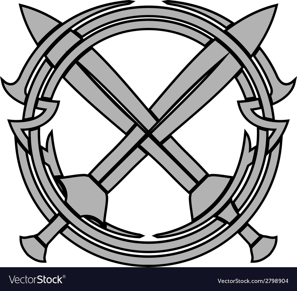 Pattern and crossed swords vector | Price: 1 Credit (USD $1)