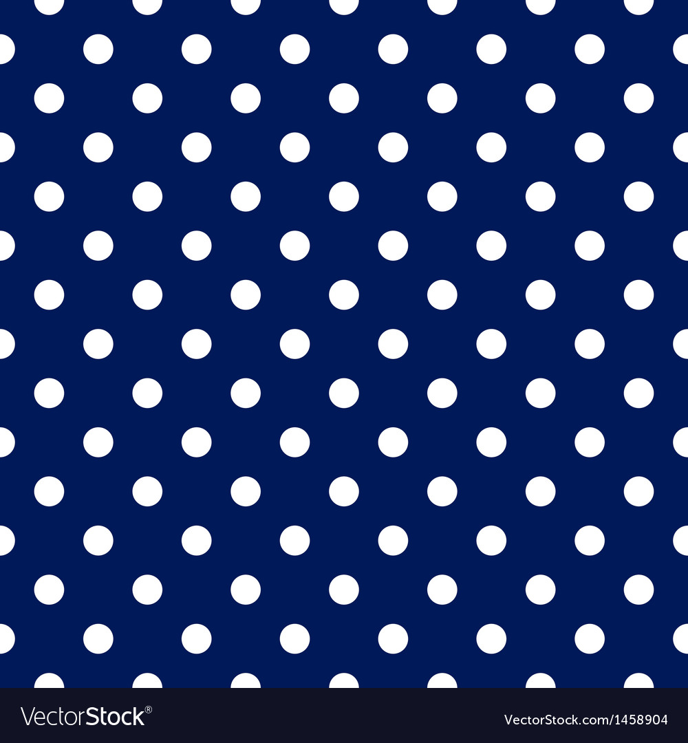 Seamless pattern - blue with white polka dots vector | Price: 1 Credit (USD $1)