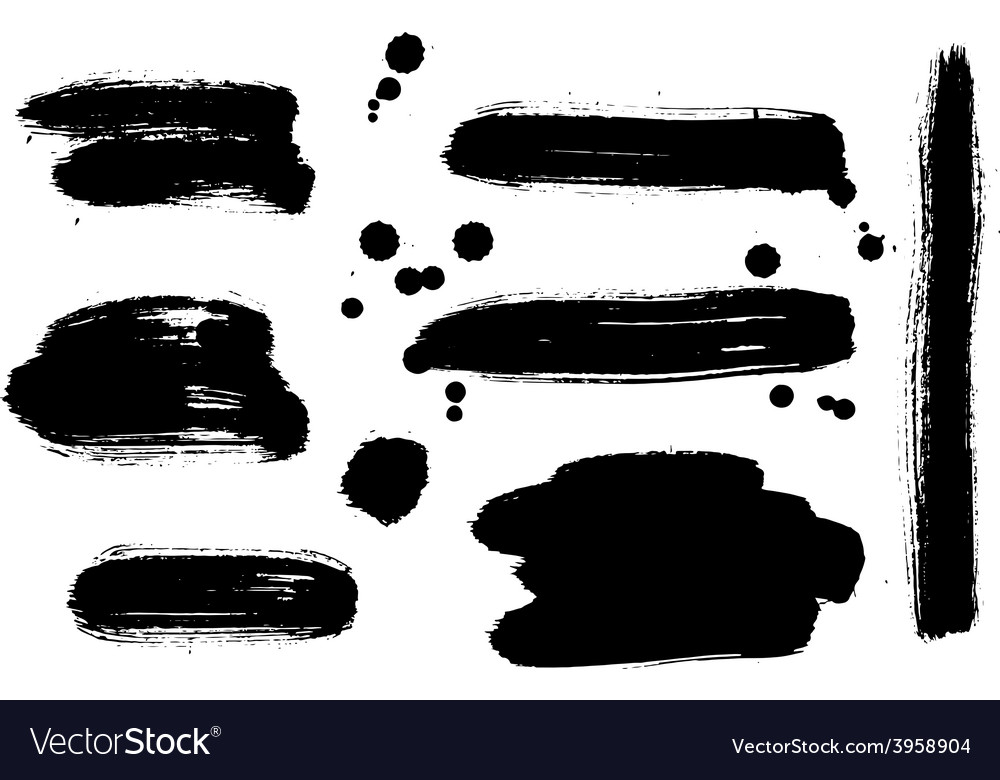 Set of abstract paint shapes vector | Price: 1 Credit (USD $1)