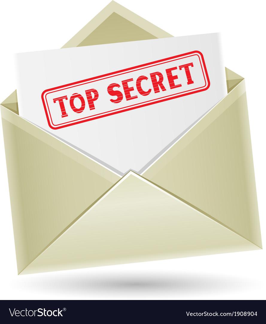 Top secret envelope vector | Price: 1 Credit (USD $1)