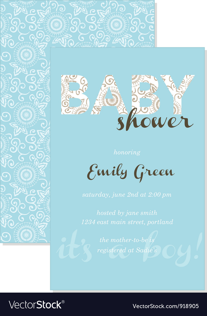 Baby shower gift card vector | Price: 1 Credit (USD $1)