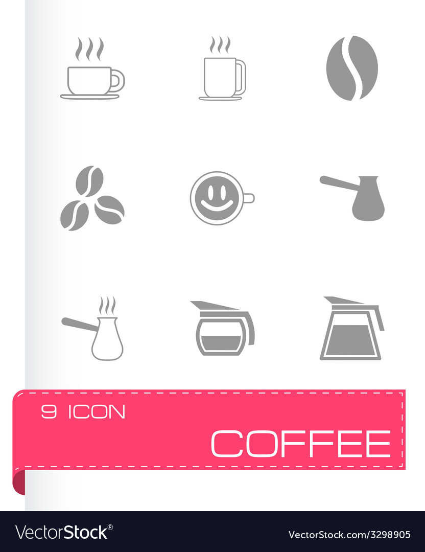 Black coffee icons set vector | Price: 1 Credit (USD $1)