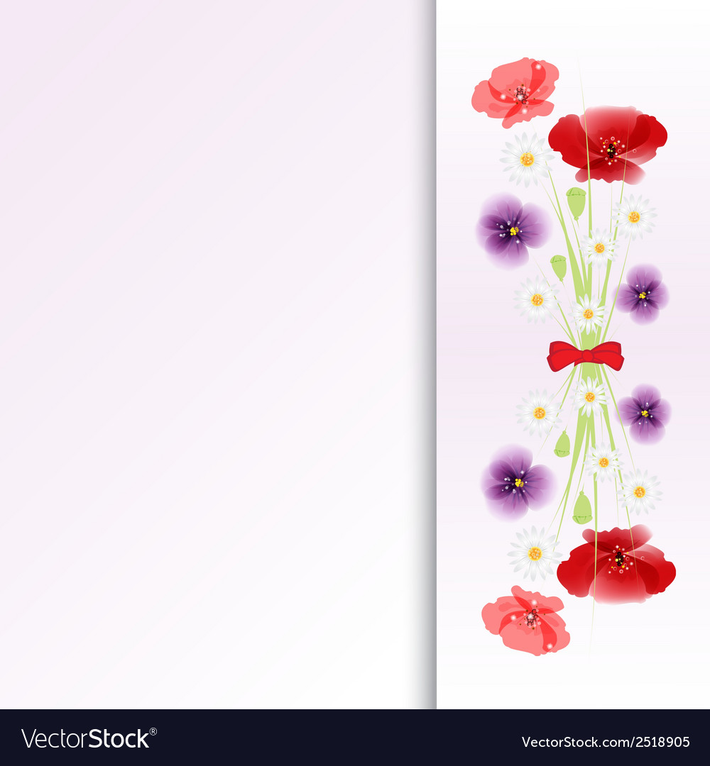 Bouquet of flowers on colorful background vector | Price: 1 Credit (USD $1)