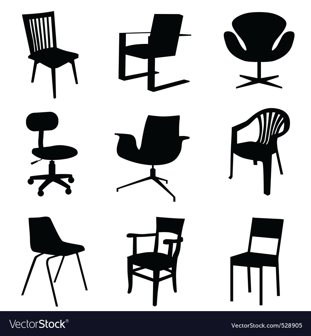 Chair set vector | Price: 1 Credit (USD $1)