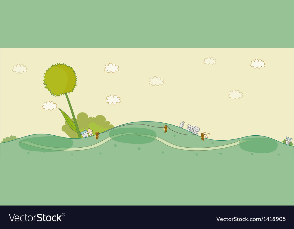 Cute idyllic landscape vector | Price: 1 Credit (USD $1)