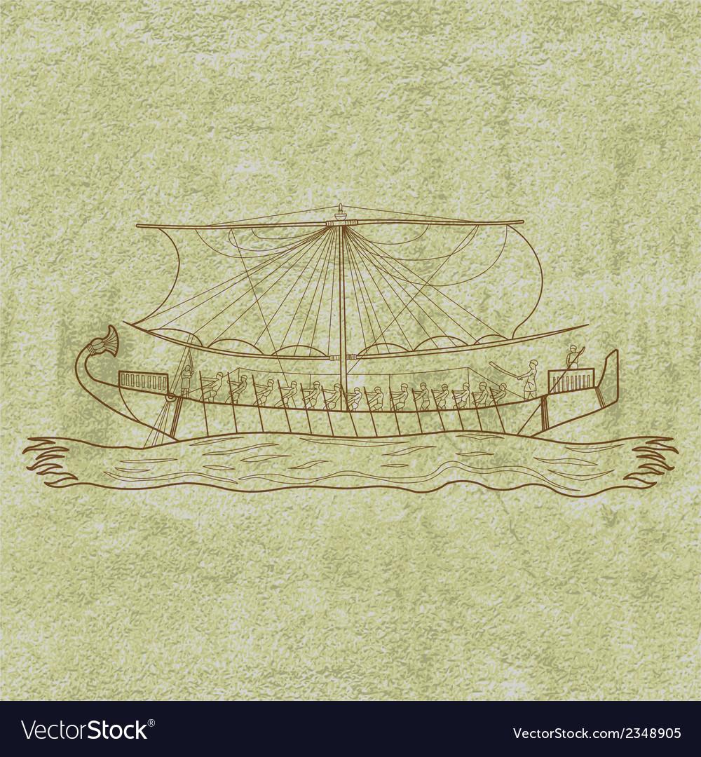 Egyptboat vector | Price: 1 Credit (USD $1)