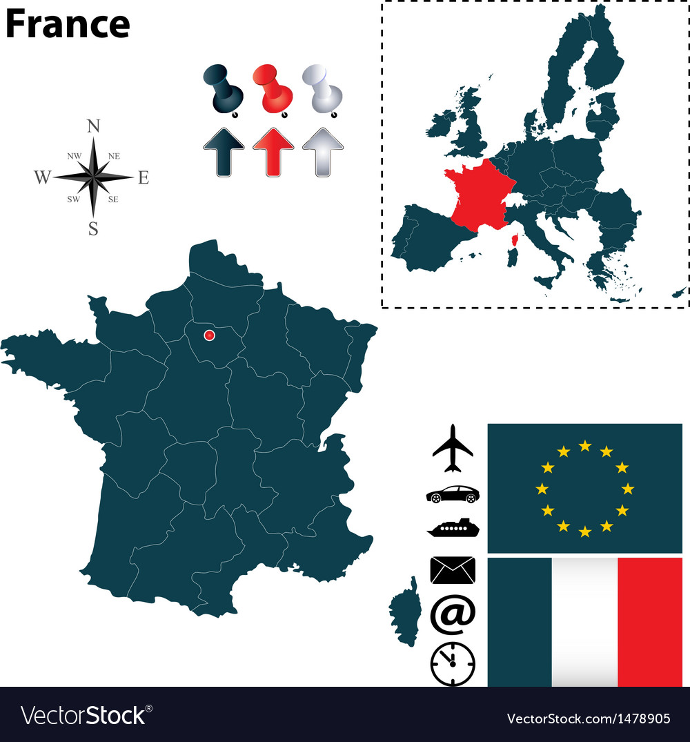 France and european union map vector | Price: 1 Credit (USD $1)
