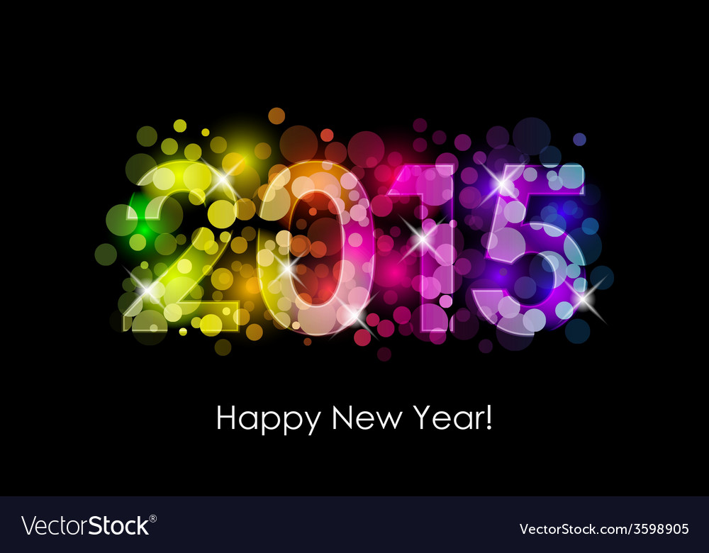 Happy new year - 2015 colorful background vector | Price: 1 Credit (USD $1)