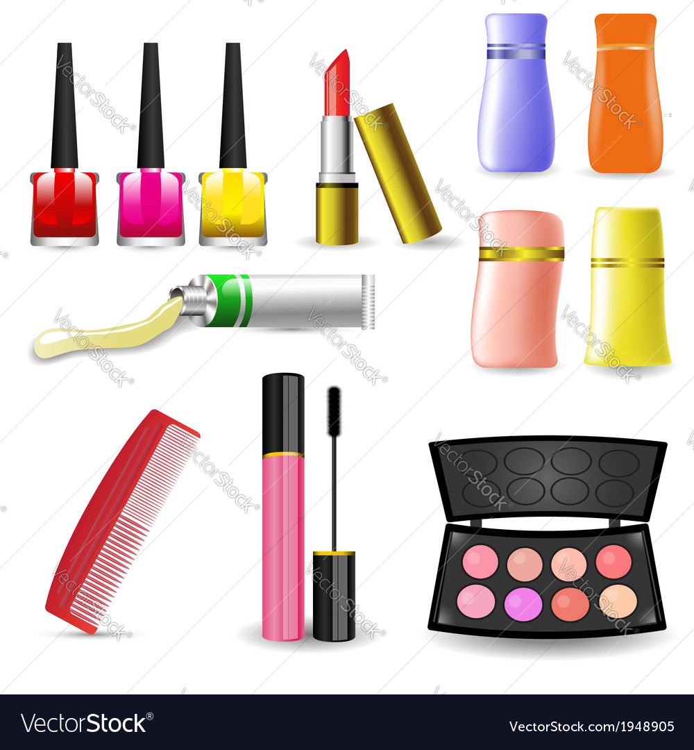 Makeup cosmetic product vector | Price: 1 Credit (USD $1)