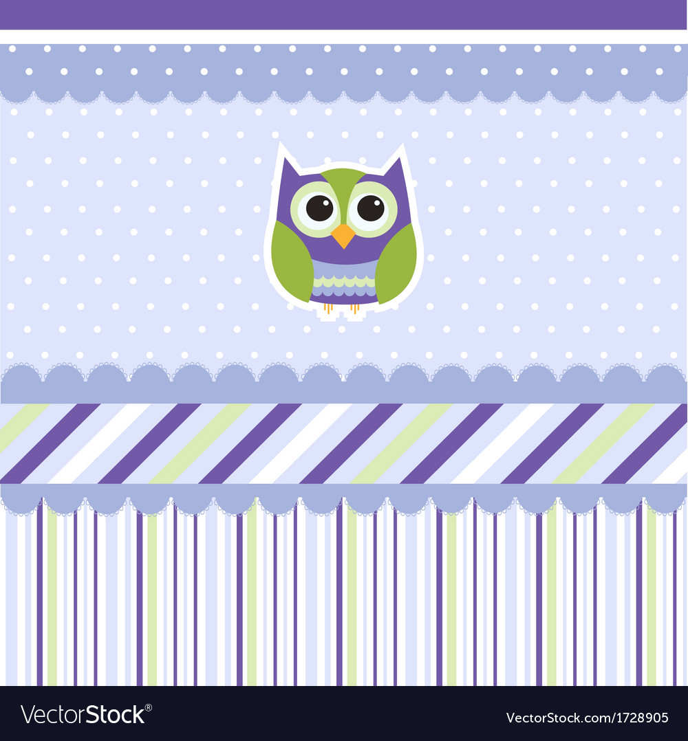 Seamless baby pattern wallpaper vector | Price: 1 Credit (USD $1)