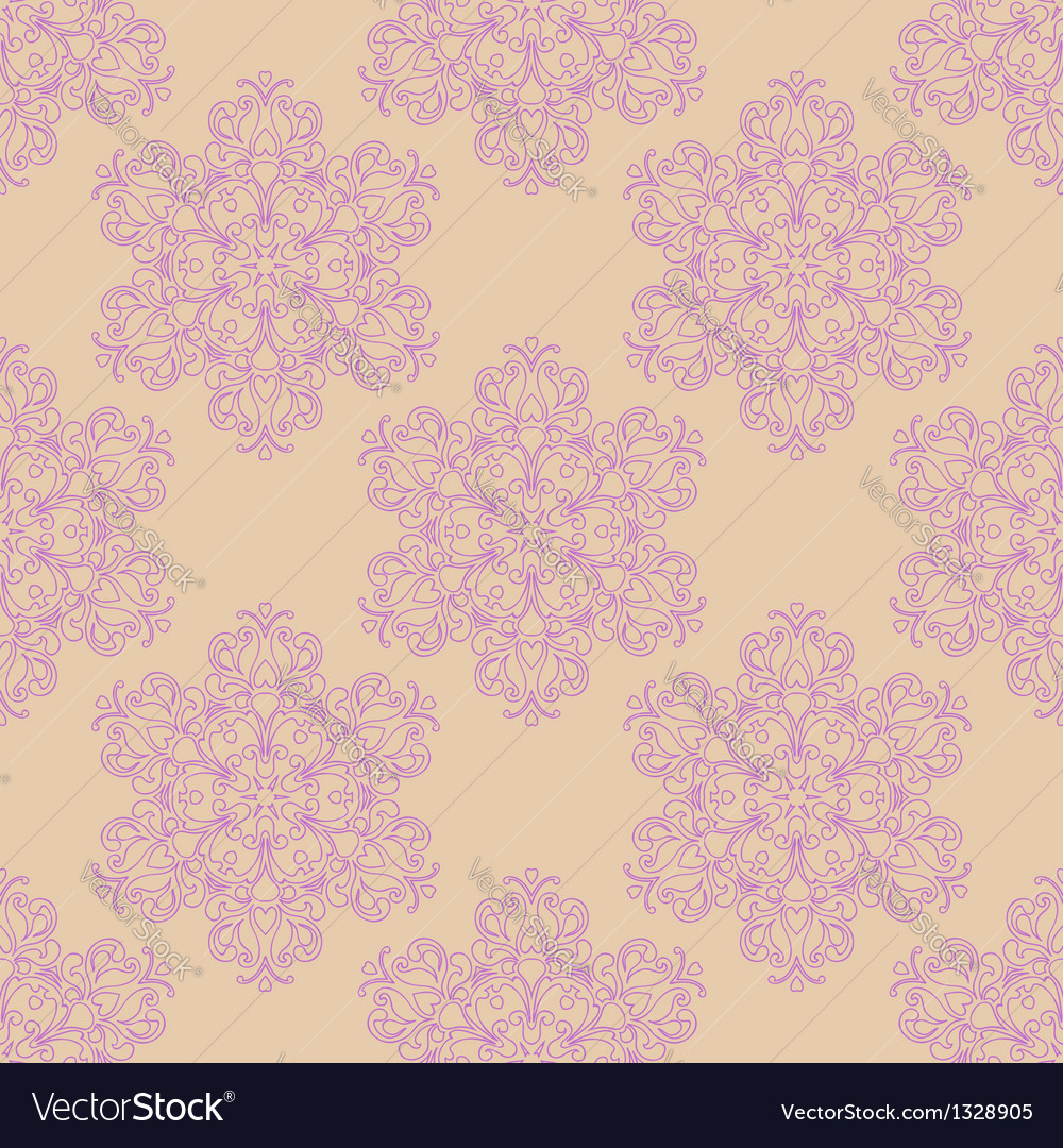 Seamless pattern with decorative flowers - irises vector | Price: 1 Credit (USD $1)