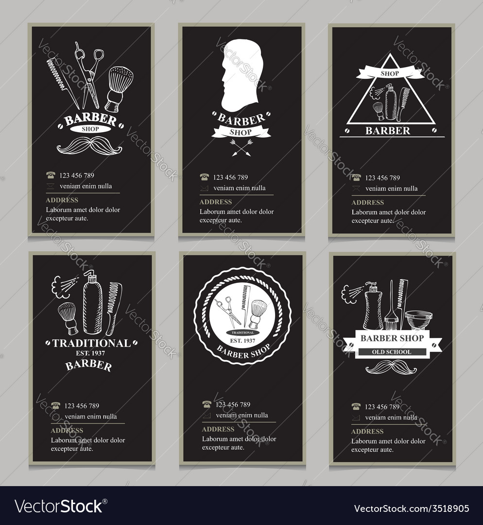 Visiting card design barbershop vector | Price: 1 Credit (USD $1)