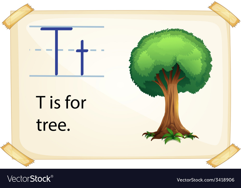 A letter t for tree vector | Price: 1 Credit (USD $1)
