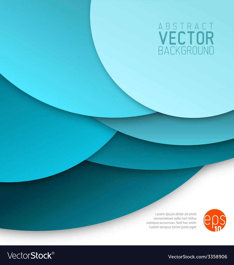 Abstract background made from blue circles vector | Price: 1 Credit (USD $1)